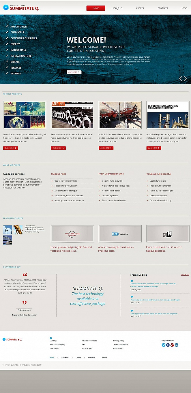 Creative Website Template for Industrial Business - image
