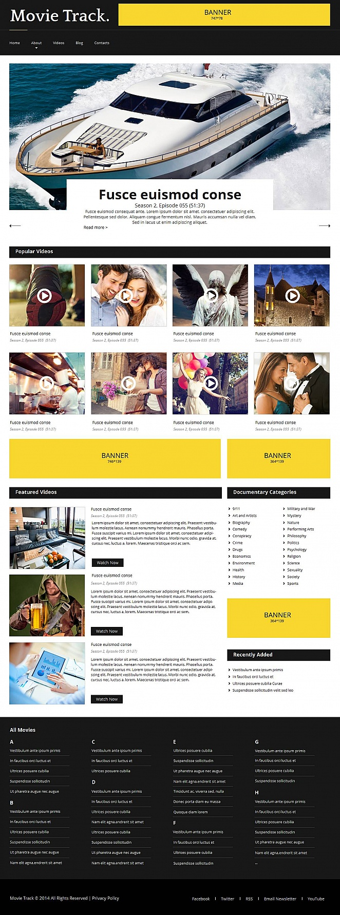 Movie Studio Website Template with Content-Rich Design - image