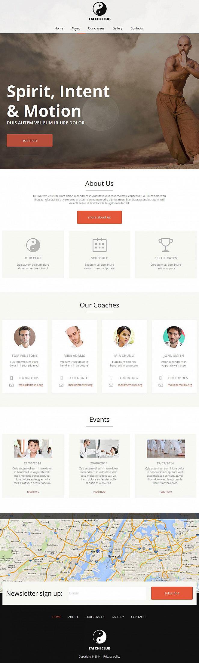 Tai Chi Website Template with Minimalist Design - image