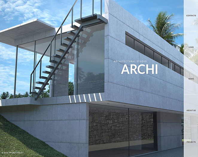 Website Design with Transparent Menu for Architecture Project - image