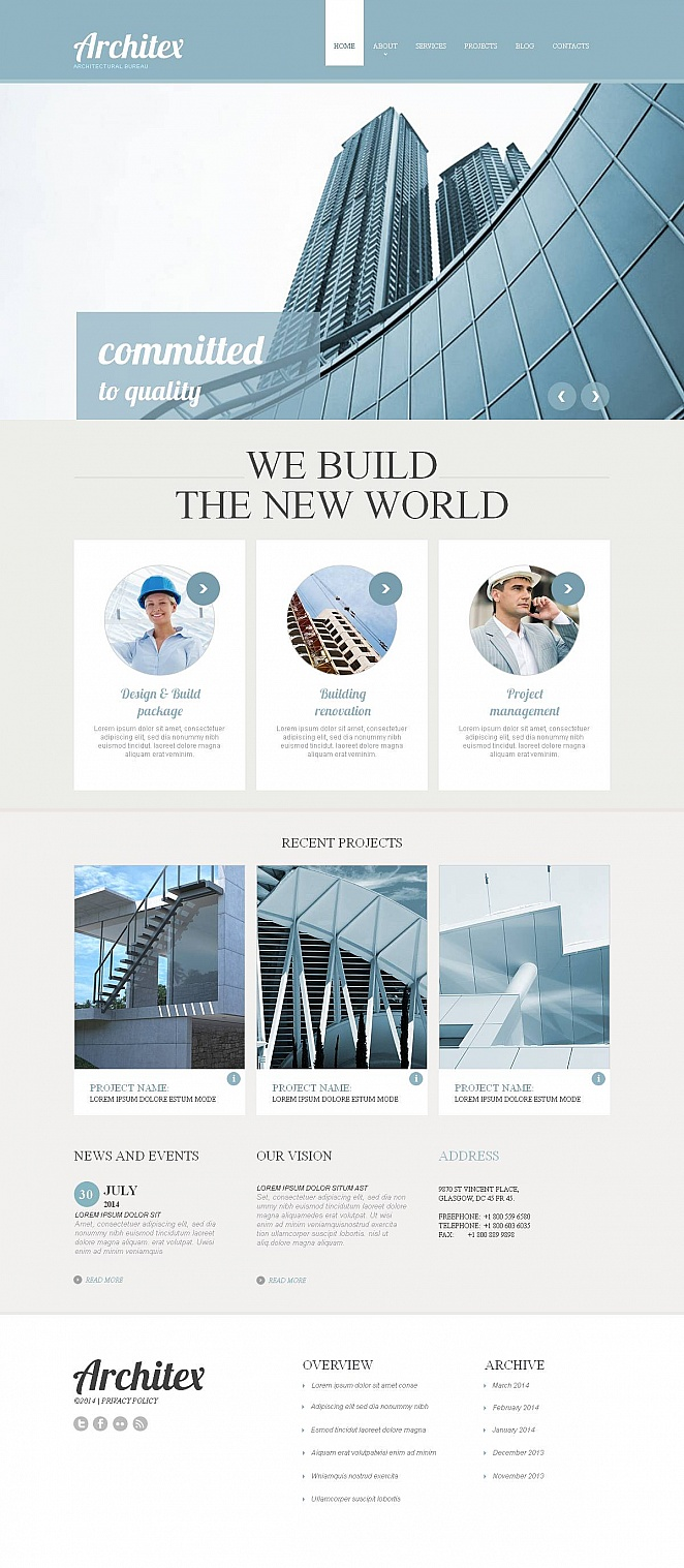 Business Website Template for Architecture Company - image