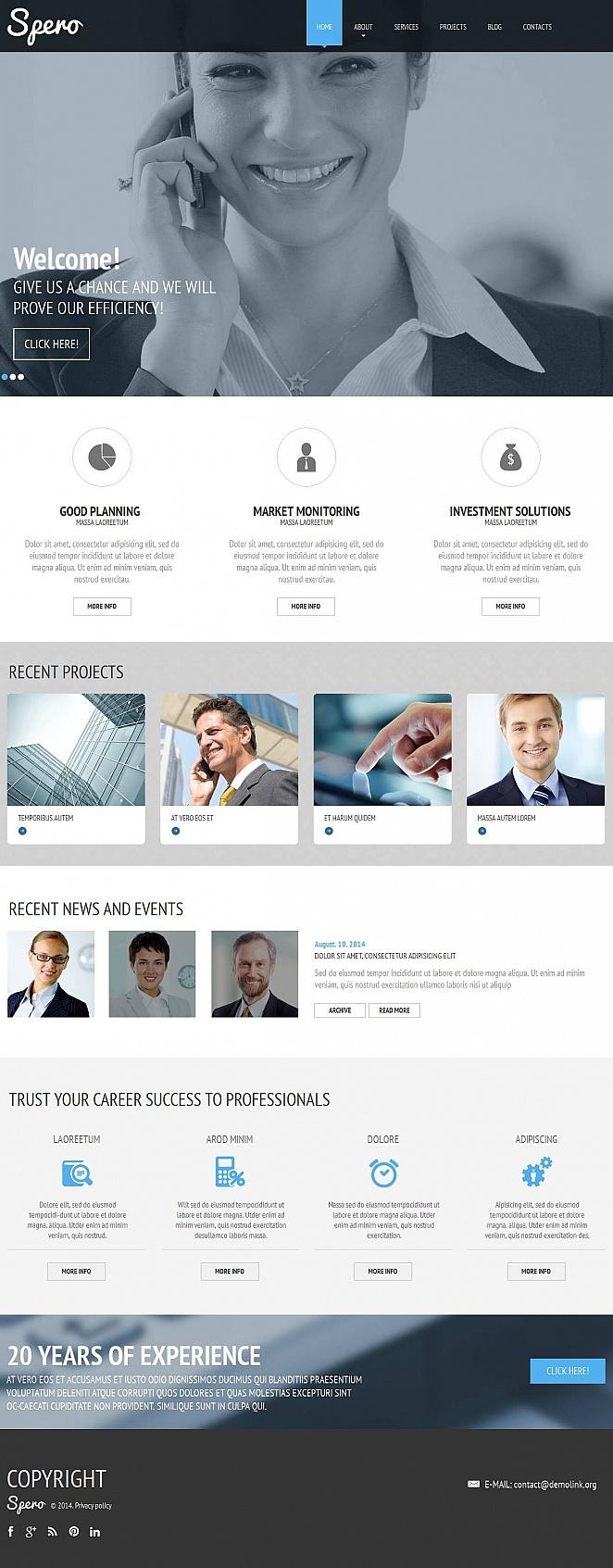 Business Website Template for Entrepreneurs - image
