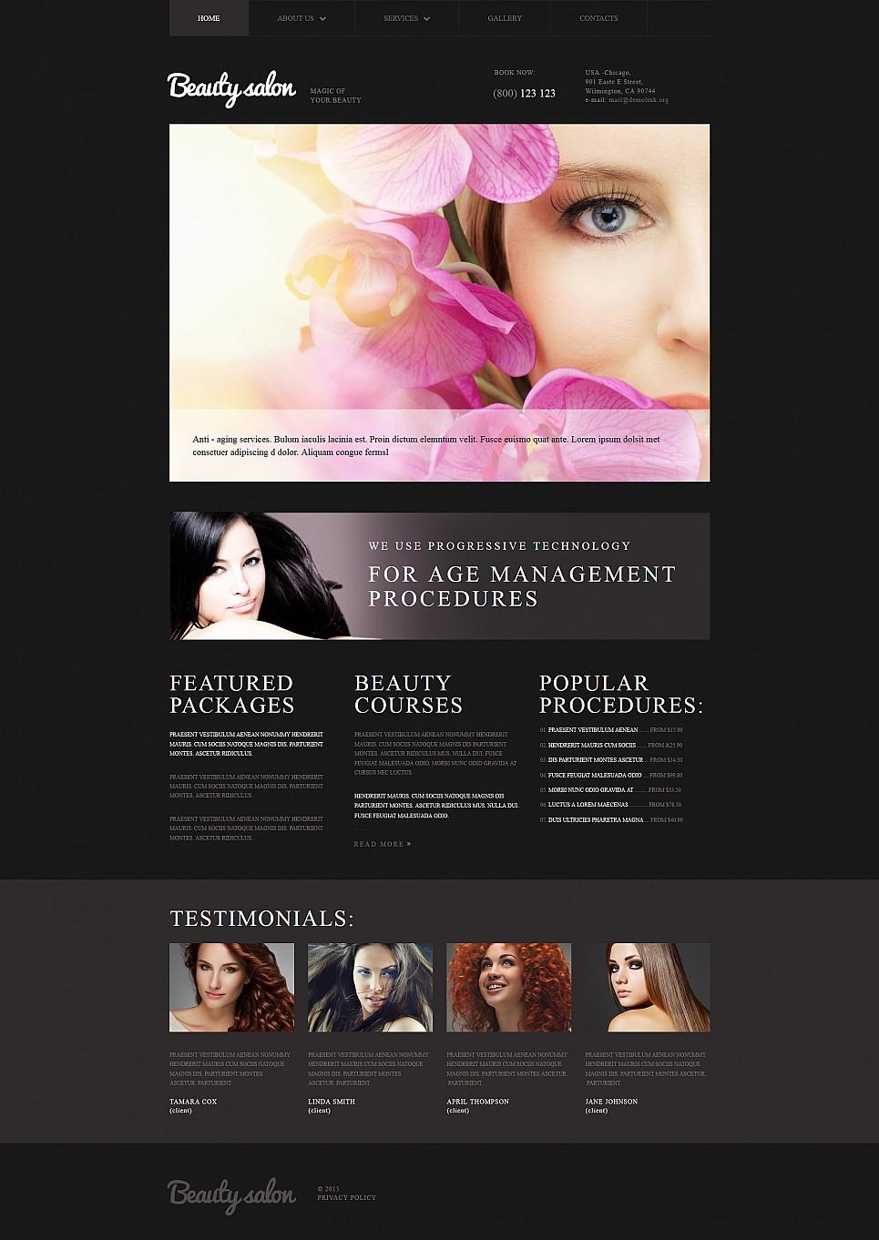 Temat www dla salonu piękności