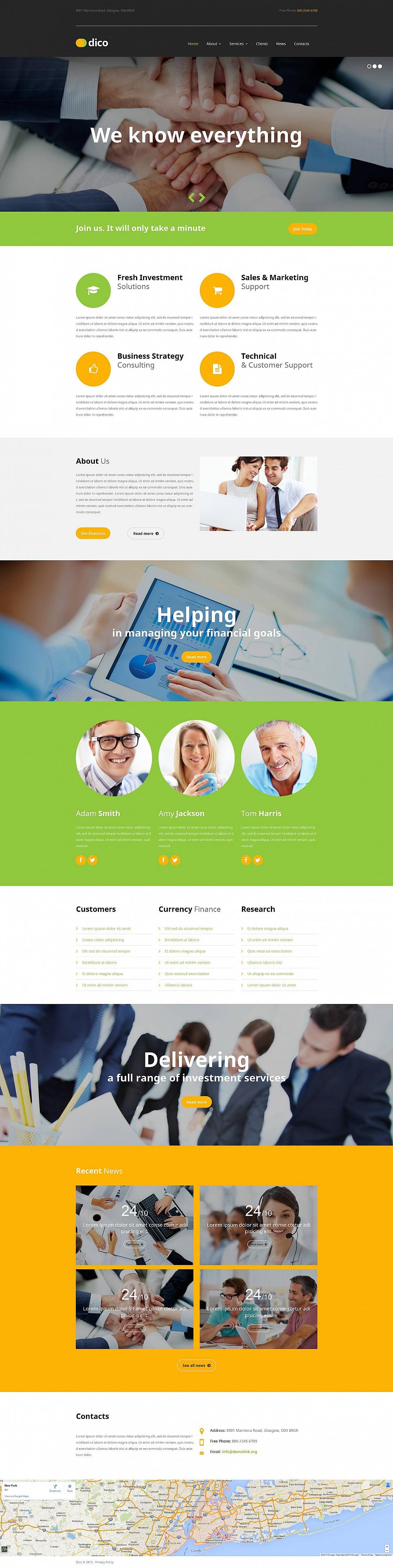 Responsive Business Website Design - image