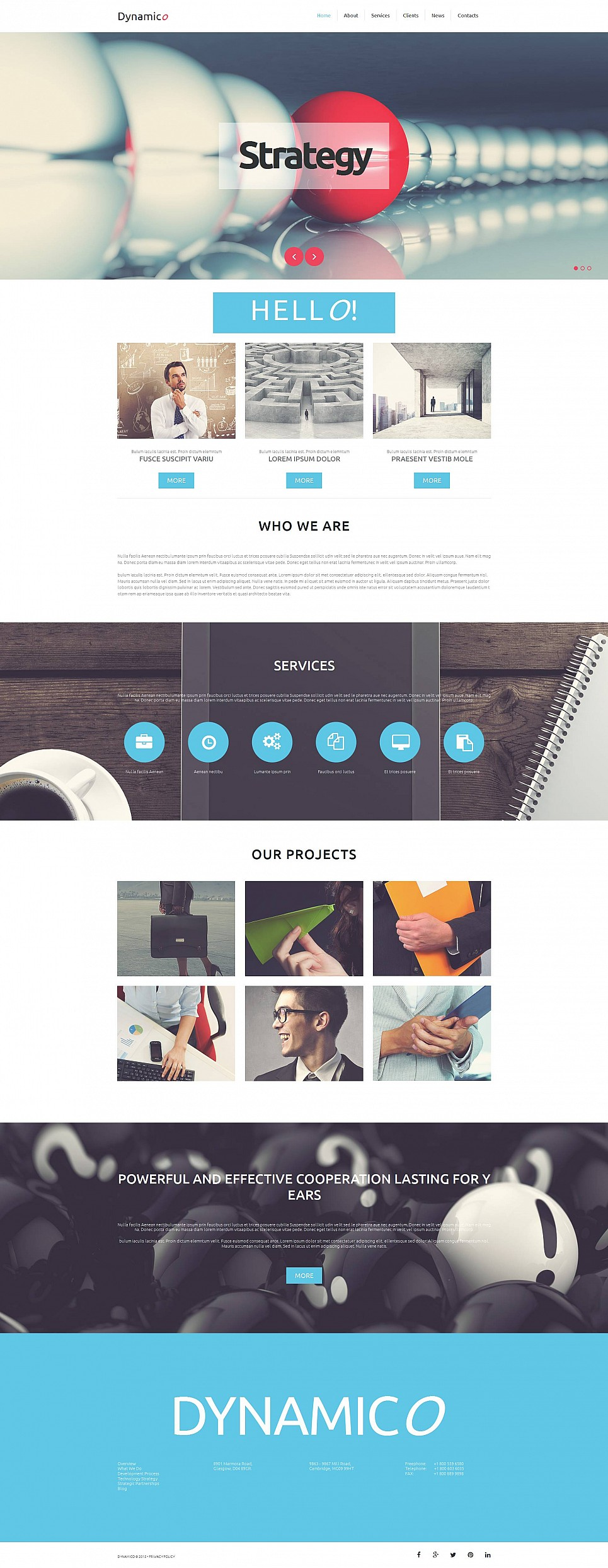 Responsive Website Template for Business - image