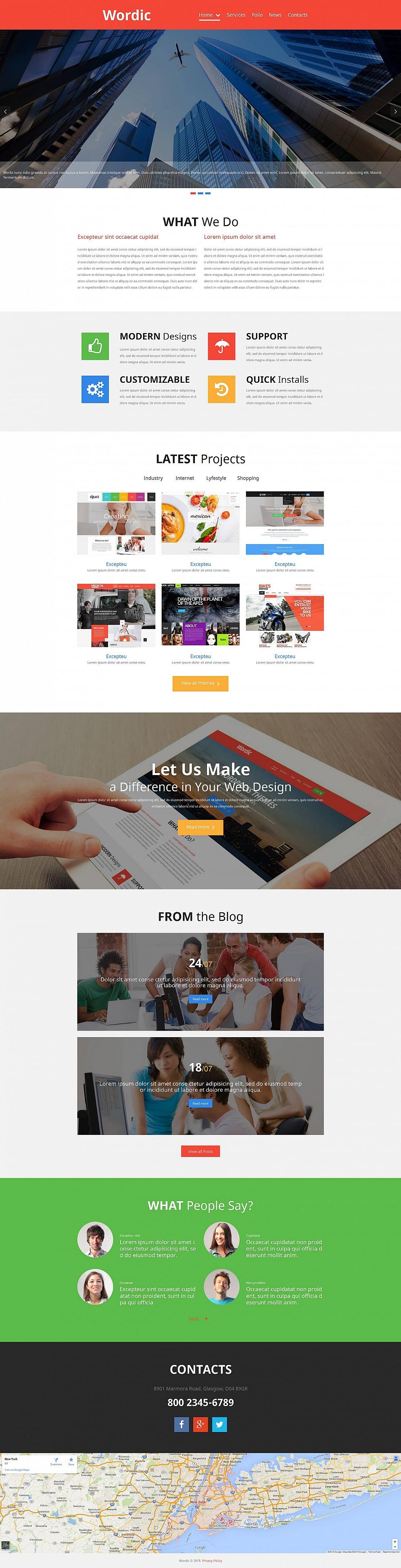 Homepage-Vorlage für eine Web Design Agentur - image