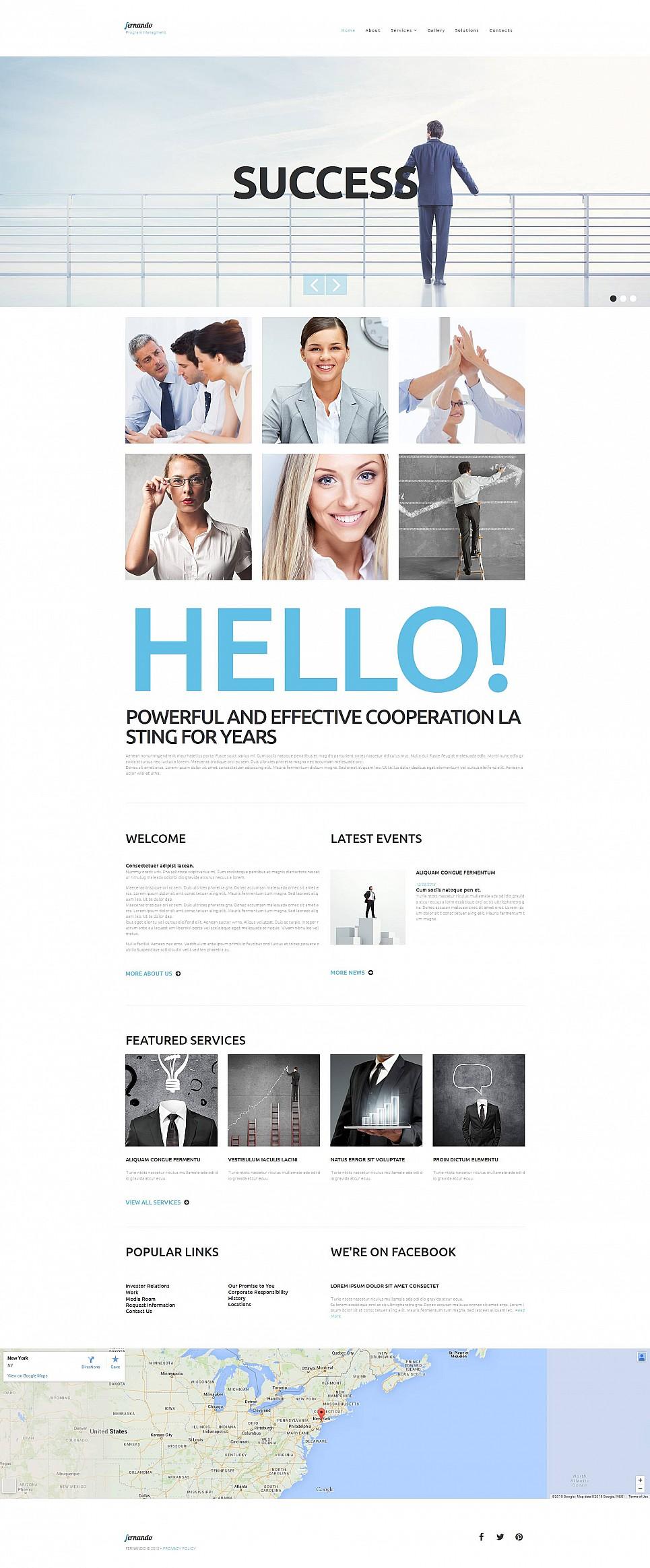 Business Management Website Design - image