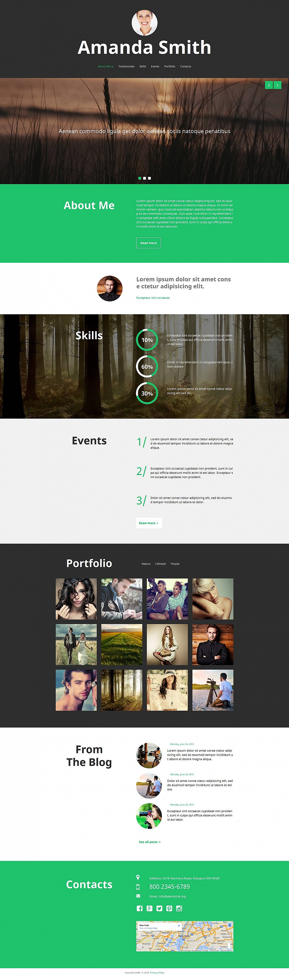 Photographer Web Page - image