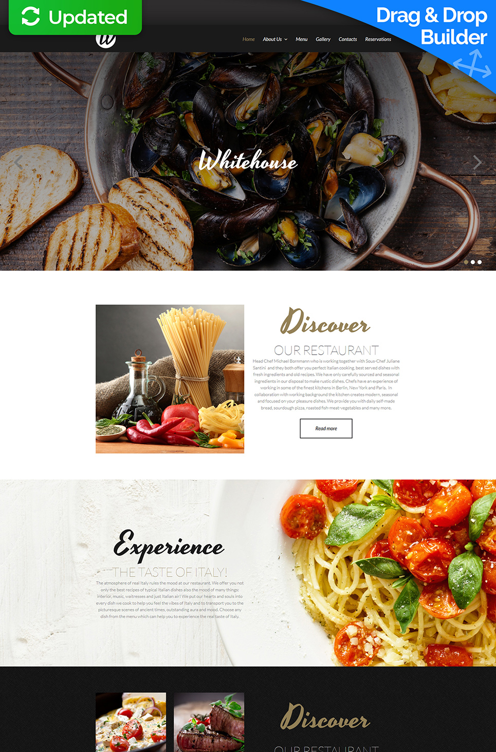Responsive Homepage-Vorlage für ein Restaurant - image