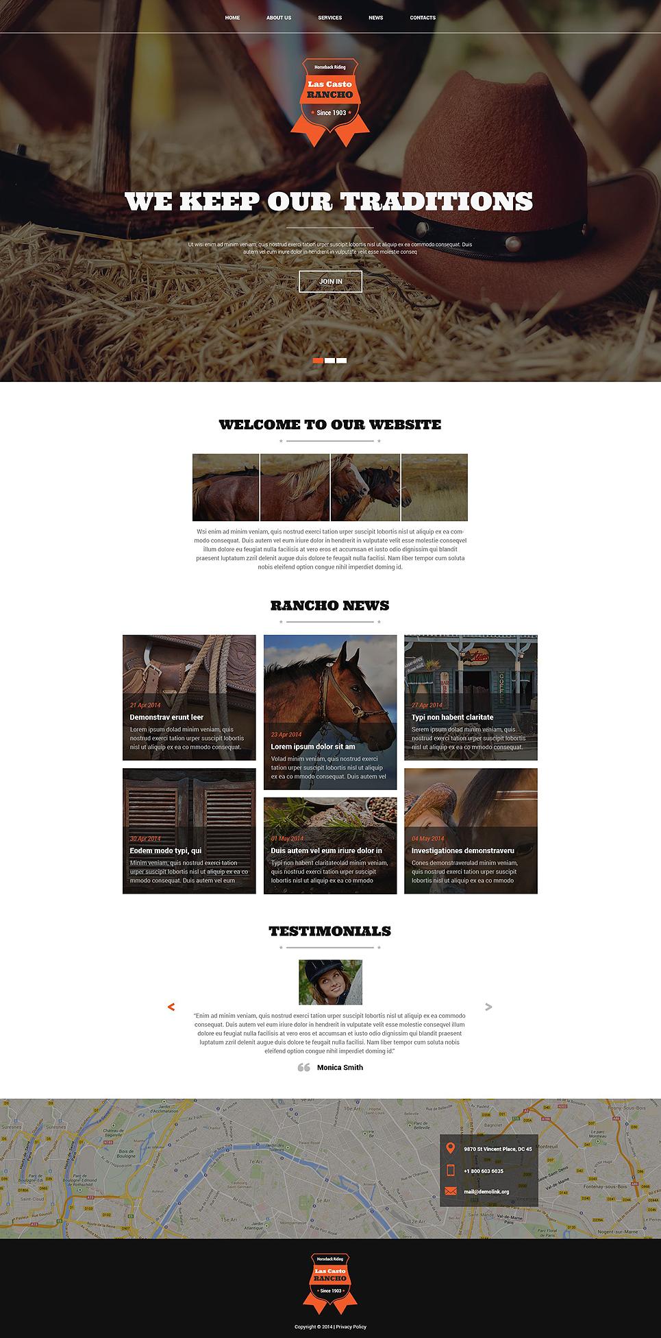 Cowboy Ranch Joomla Template