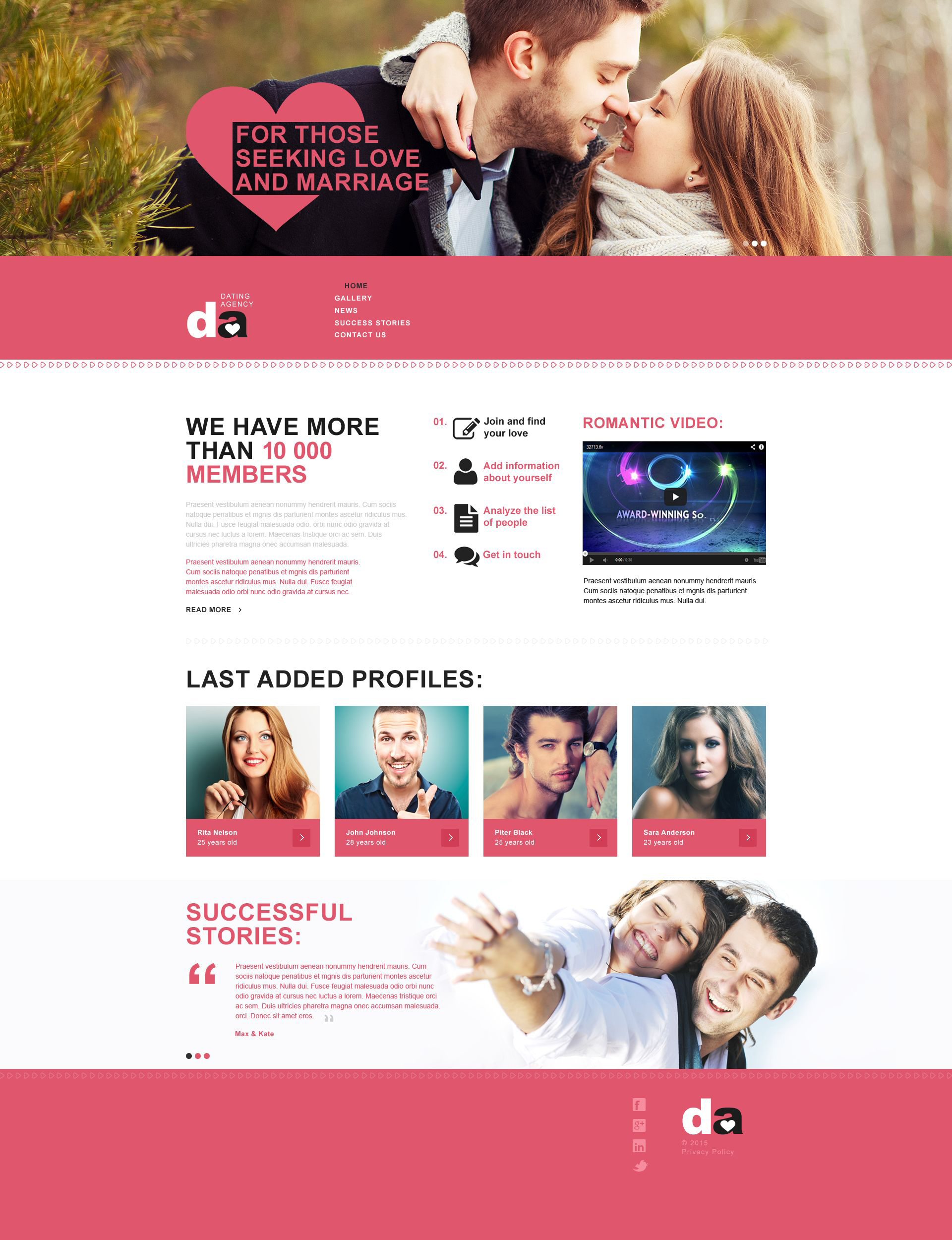 31 Dating Website Themes & Templates