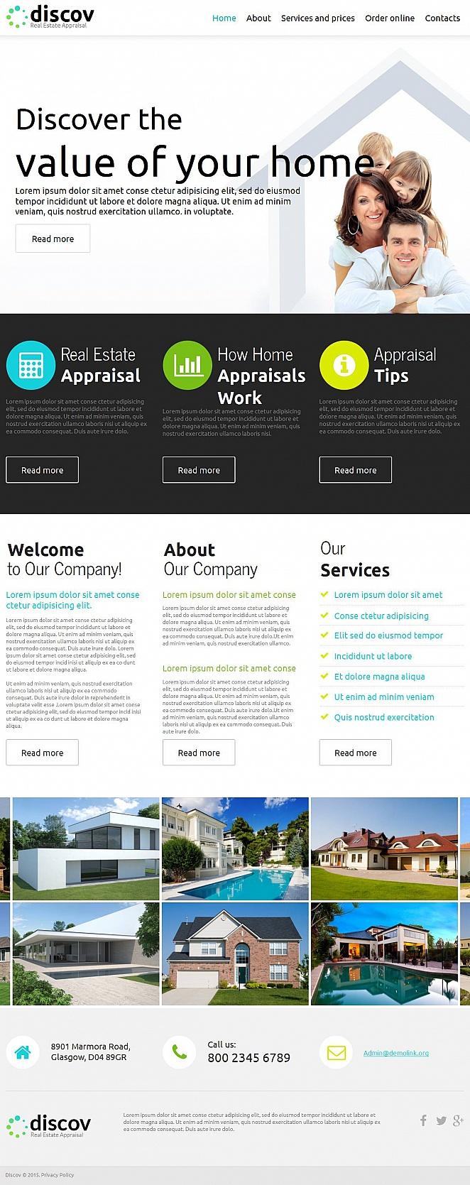 Сайт-визитка для агентства недвижимости - image