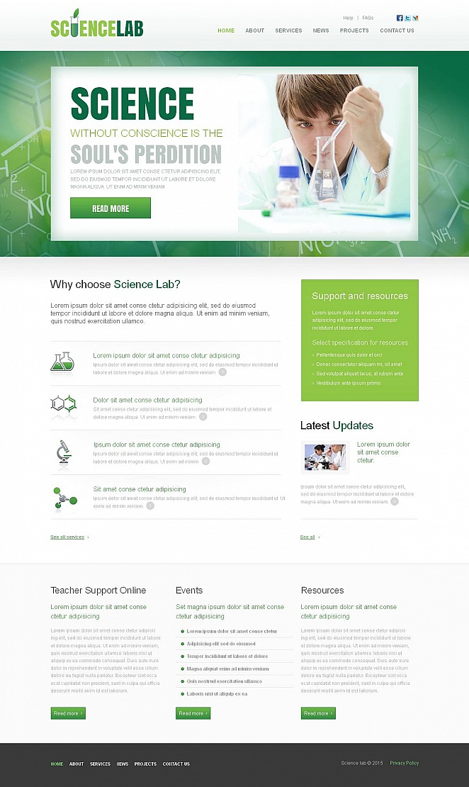 Customizable Green Website Design for Science Industry - image