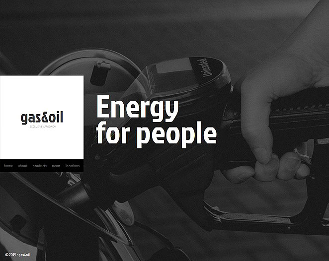Gas and Oil Website Template with Compact Navigation Menu Bar - image