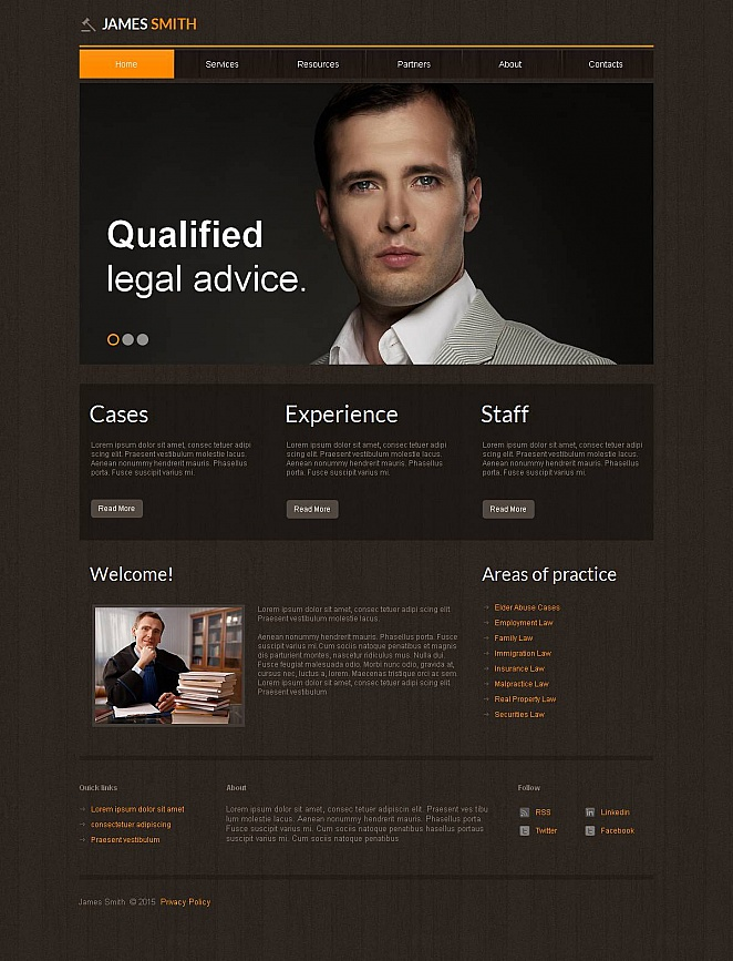 Law Website Template with Textured Design - image