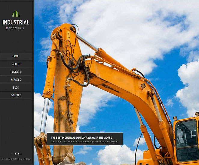 Industrial Web Template for Renewable Energy Business - image