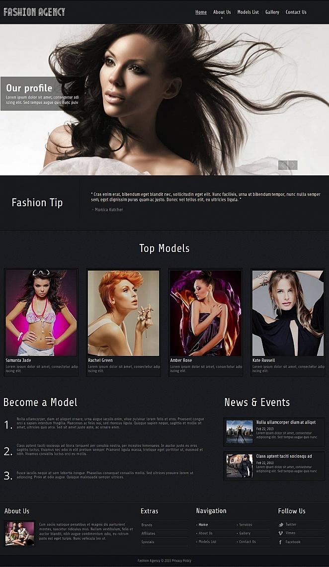 MotoCMS HTML Szablon #52613 z kategorii Moda - image