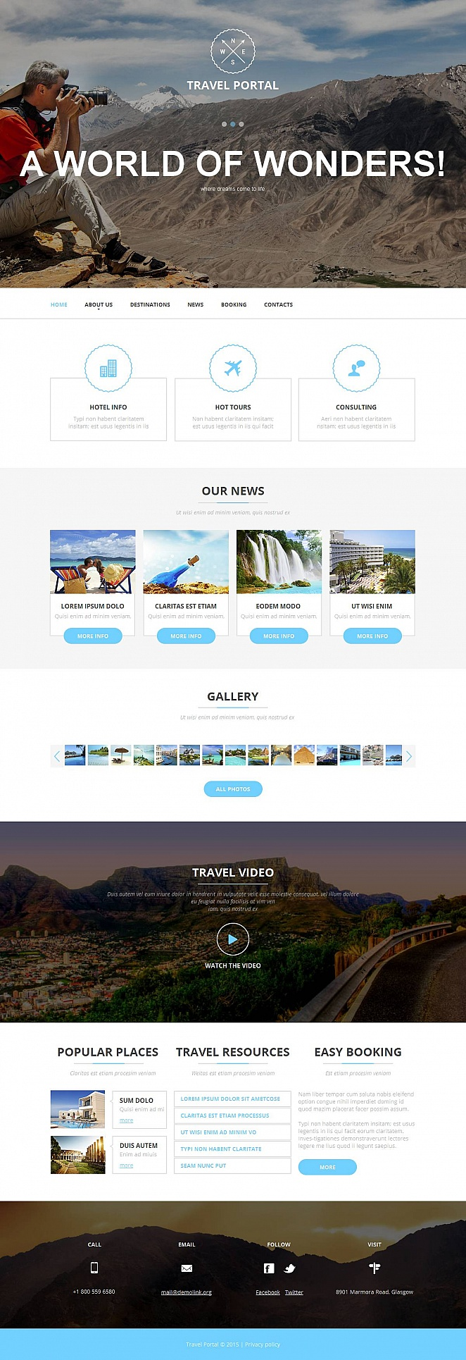 Travel Tours Website Template - image