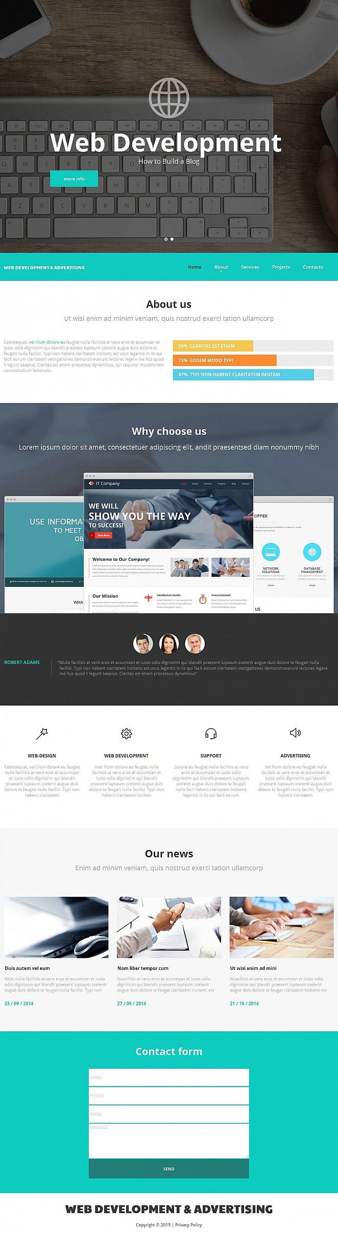 Web Development Company Website Template - image