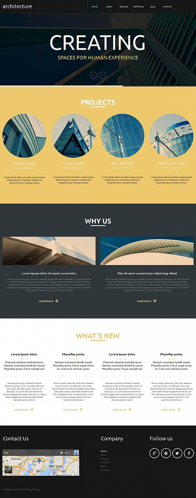 Flat Style Website Template for Architects - image