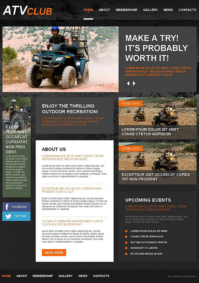 Sports Website Template for ATV Club - image