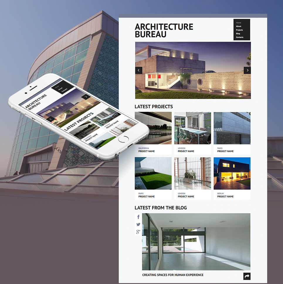 Architect's Webpage Template with a Huge Portfolio Gallery - image
