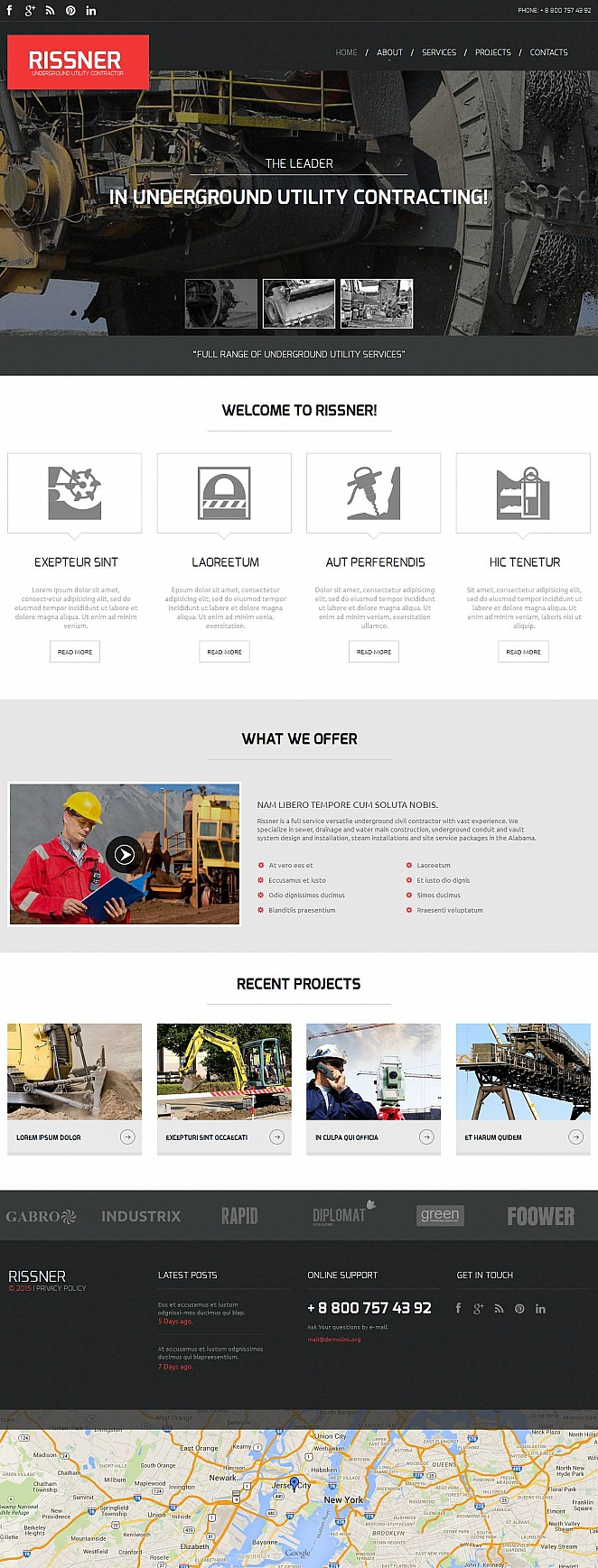 Industrial Website Template with Home Page Slider - image