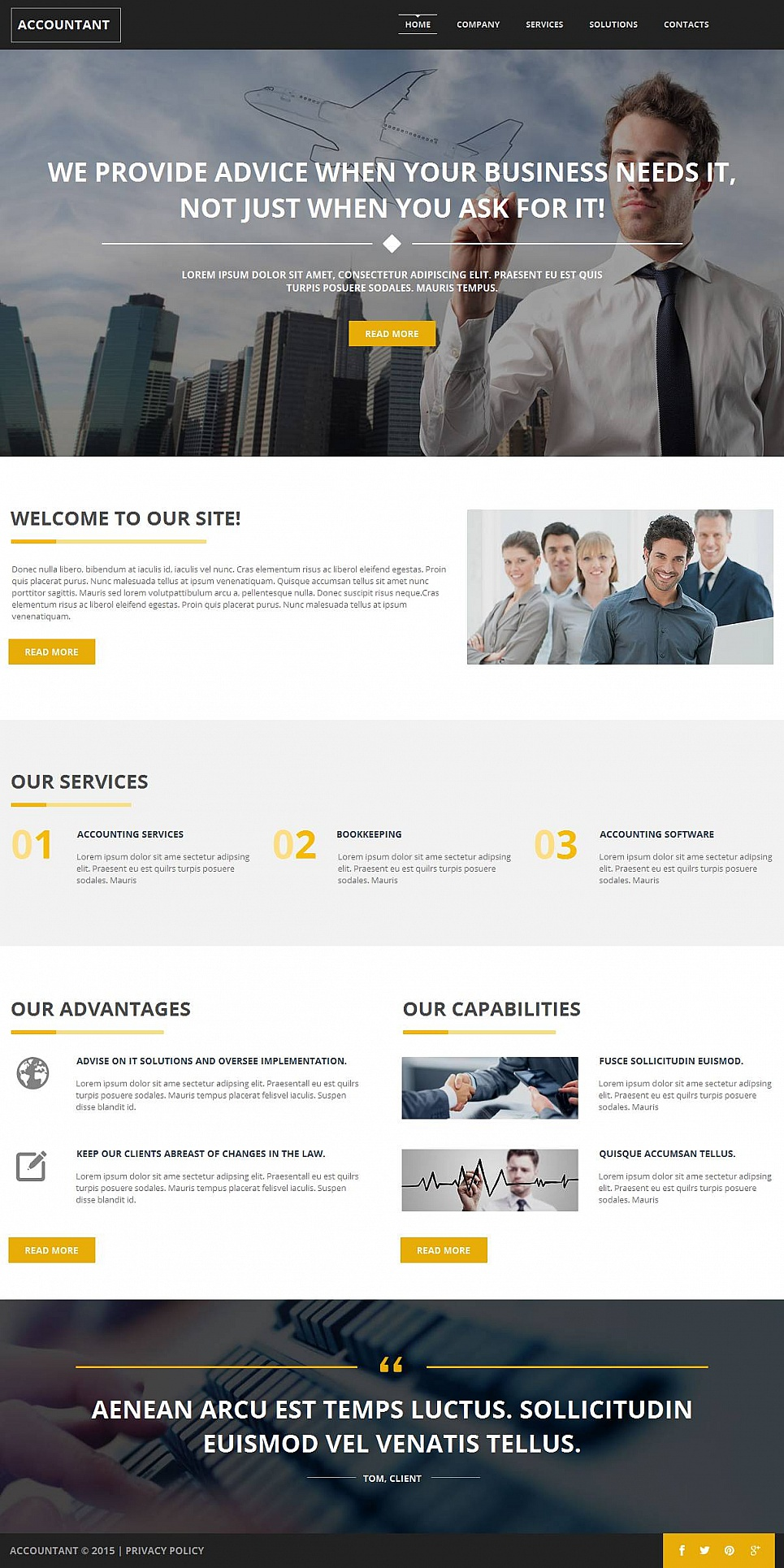 Accounting Website Template with a Large Header Image - image