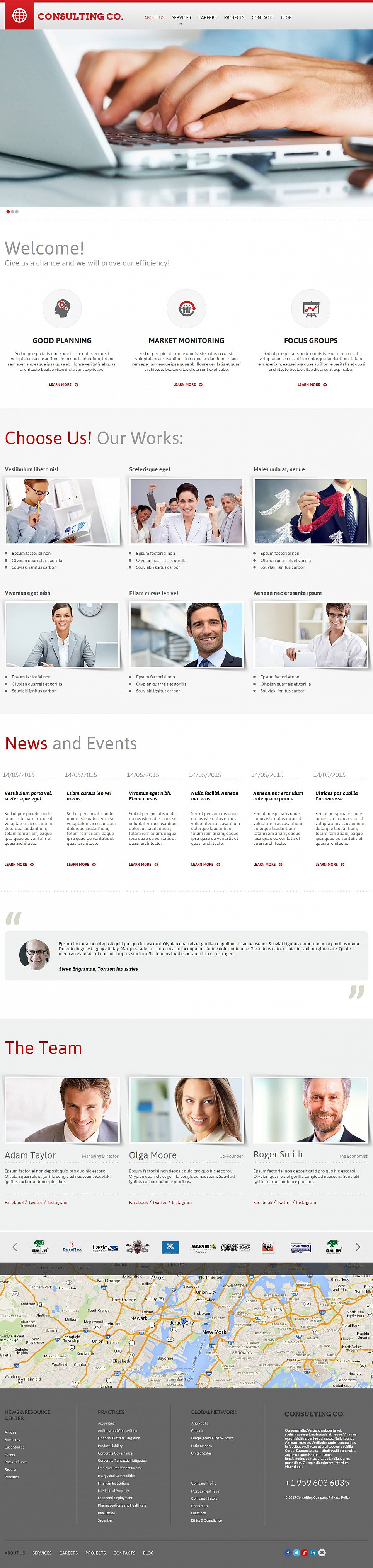 CMS Website Template for Consulting Business - image