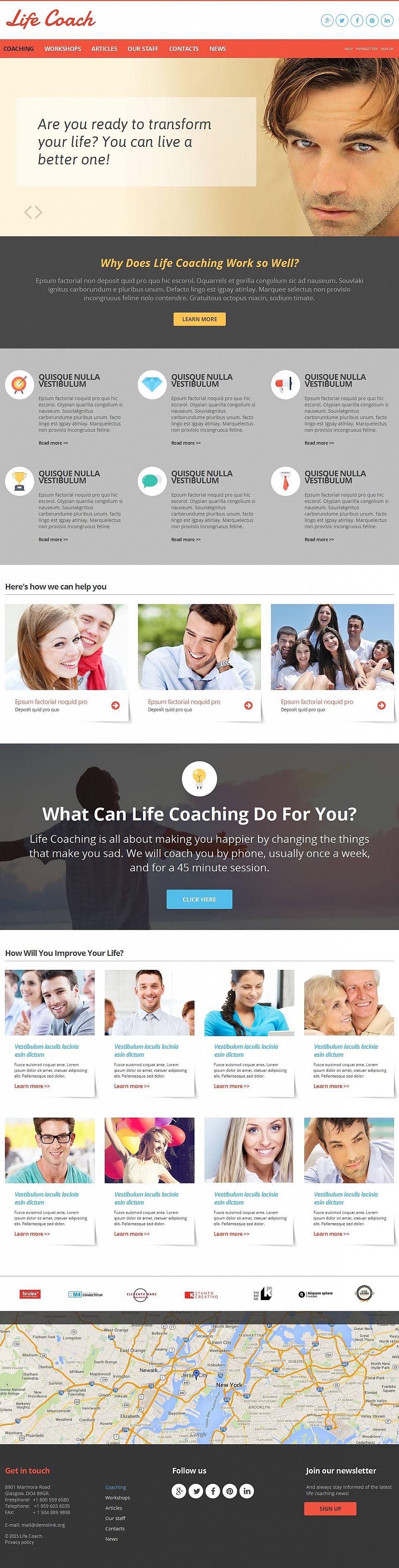 Homepage für einen Lebensberater mit dem Control Panel - image