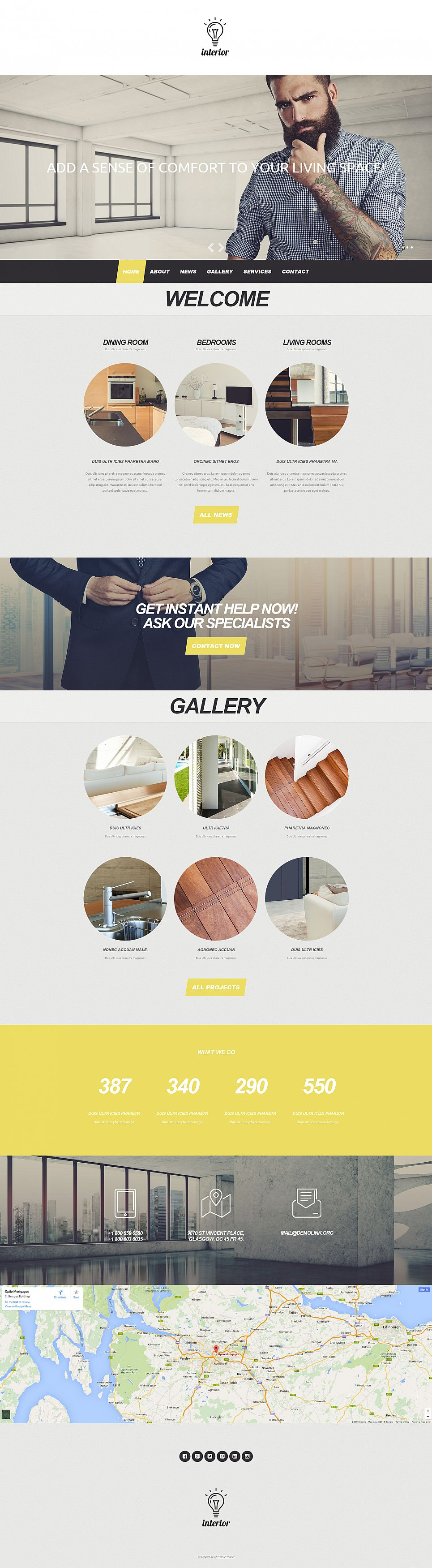 Interior Design Site Template - image