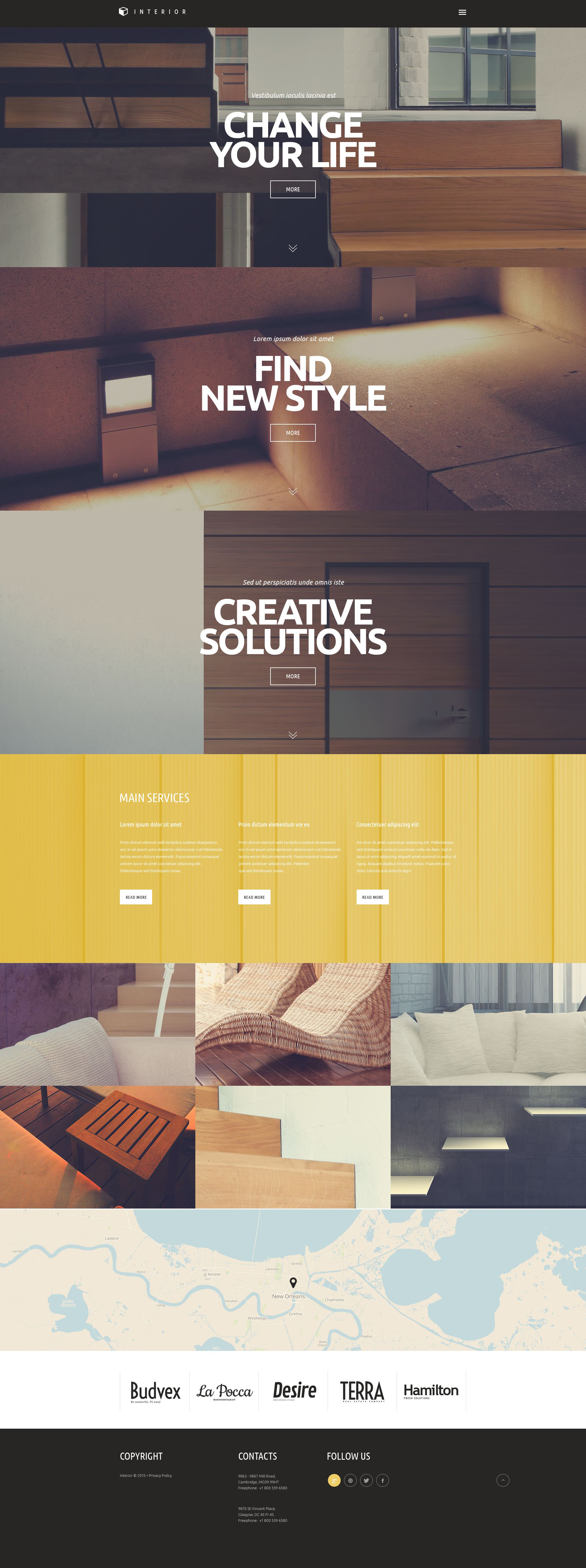 10 unique wordpress themes for your design business for Interior design business website