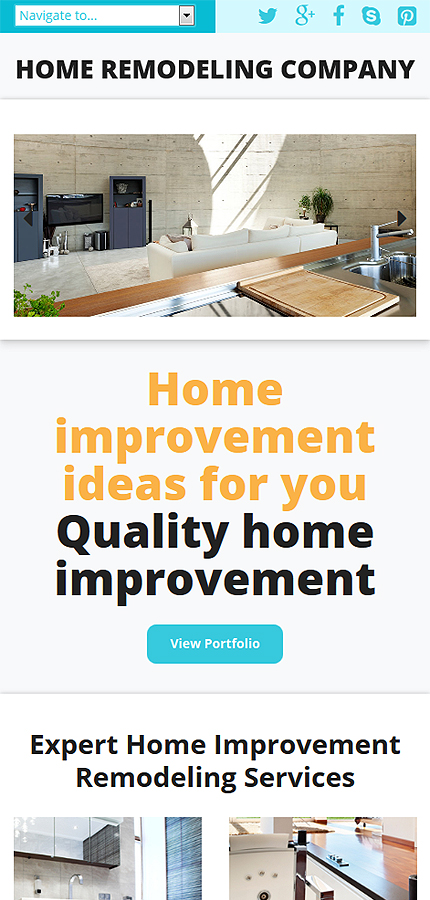 Home Remodeling Responsive Website Template #52847