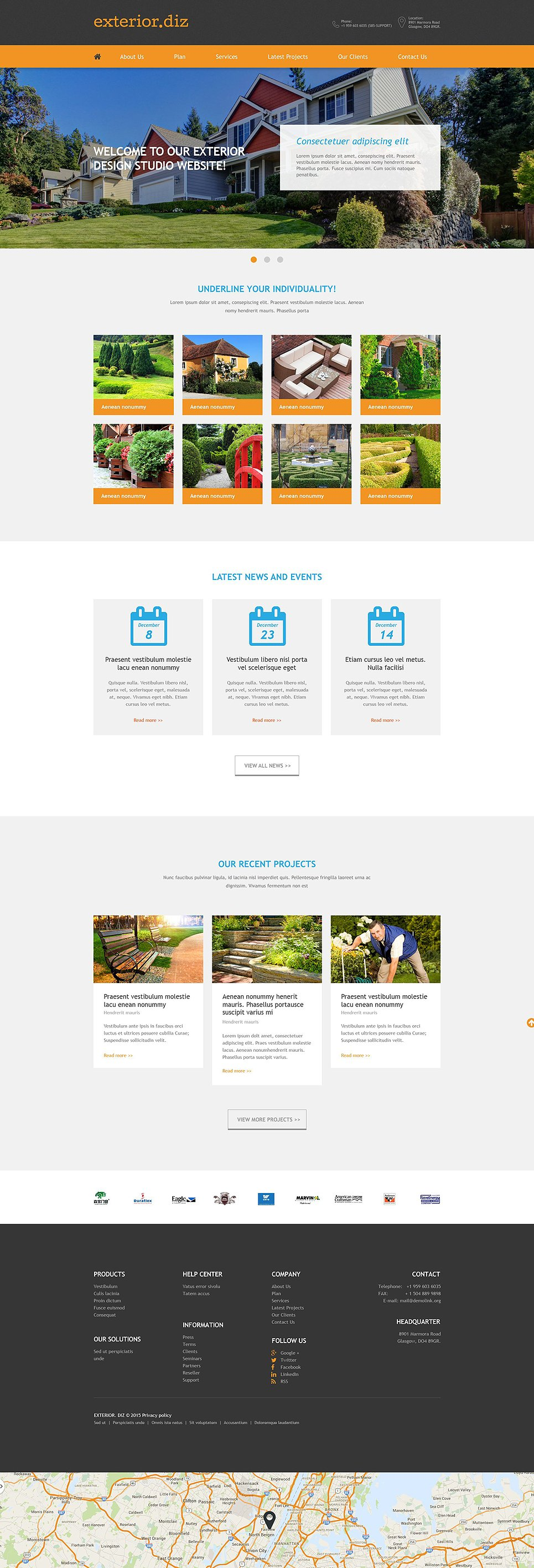 Template 52869 ensegna themes for Online exterior design services