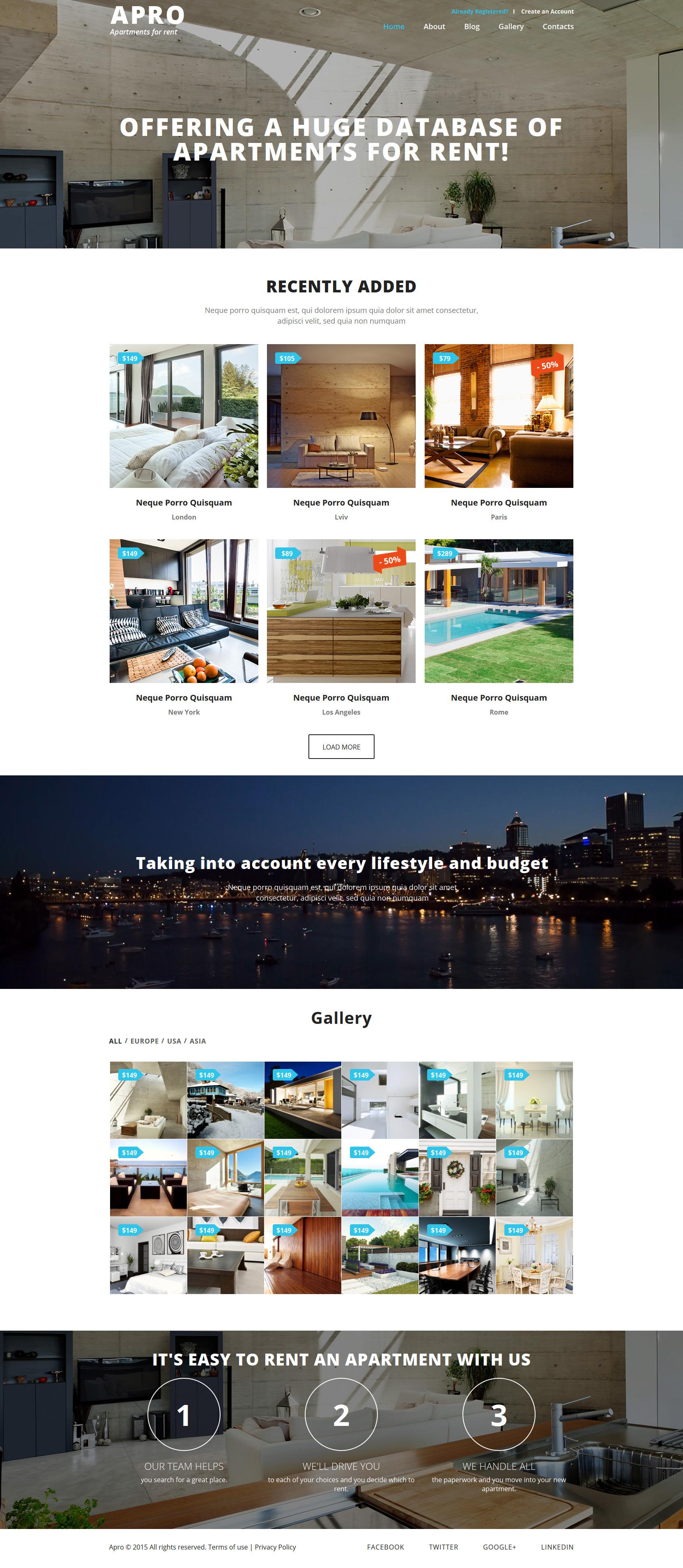 Plantilla joomla 52911 para sitio de agencia inmobiliaria for Agencia inmobiliaria