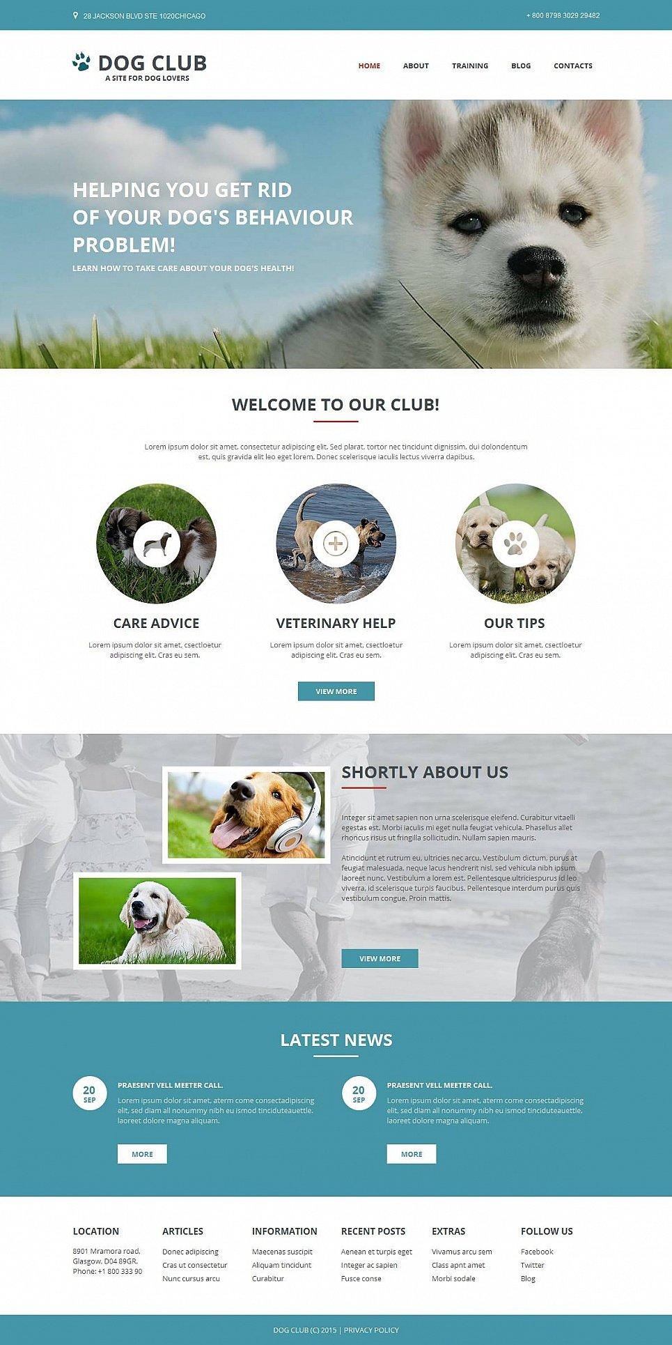 Plantilla Web para Criadores de Perros - image