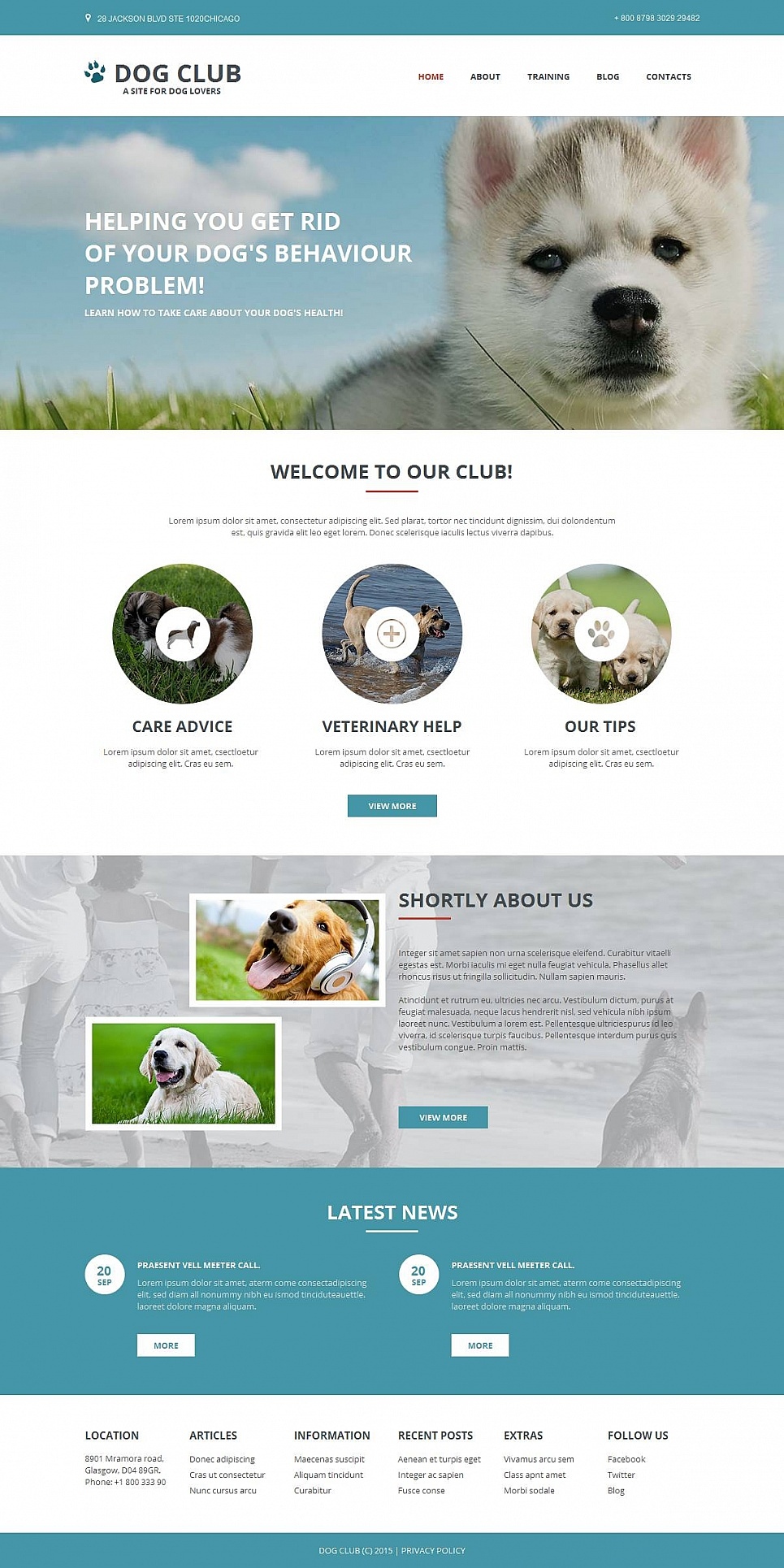 MotoCMS HTML Шаблон #53048 из категории Животные - image