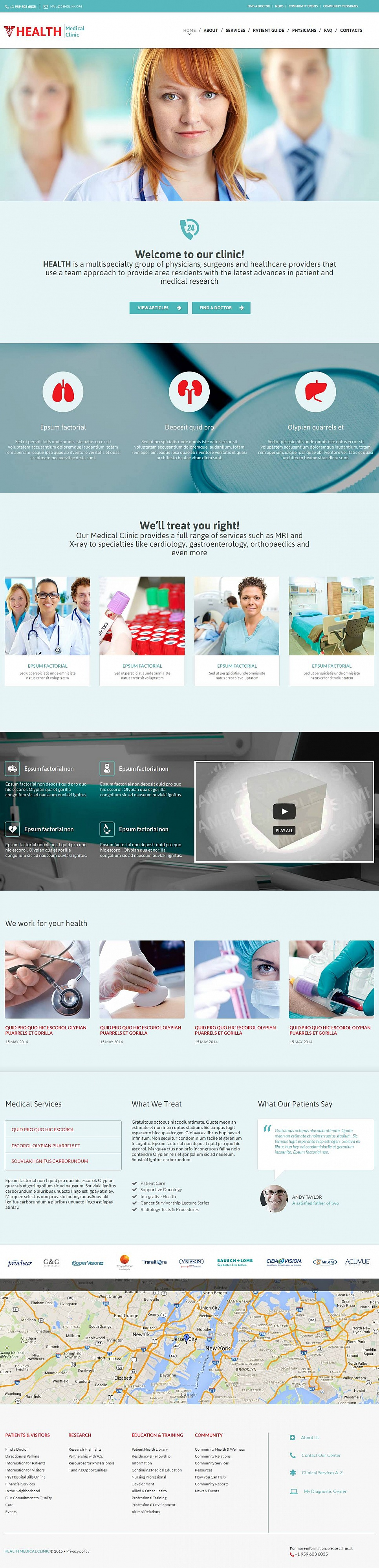 Health Website Template - image