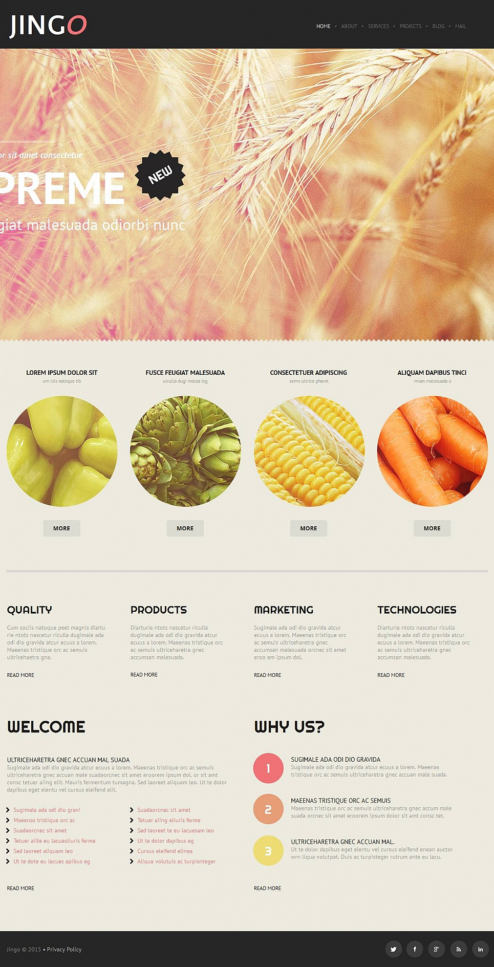 Webvisitenkarte für landwirtschaftliche Erzeugnisse - image