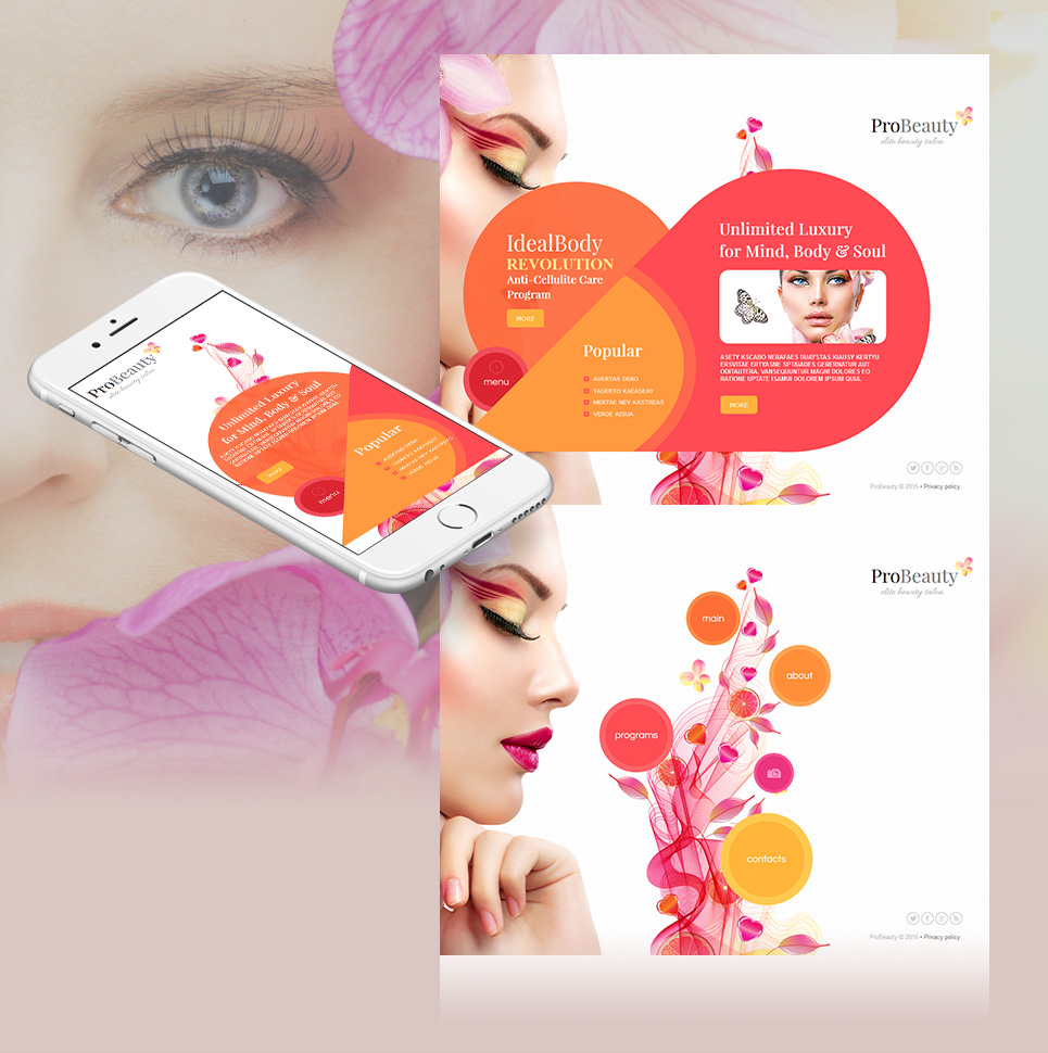 Salon Website Template for Beauty Industry - image