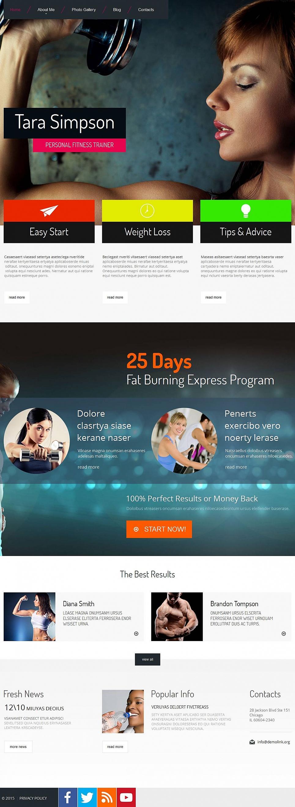 Szablon Strony Osobistego Fitness Trenera - image