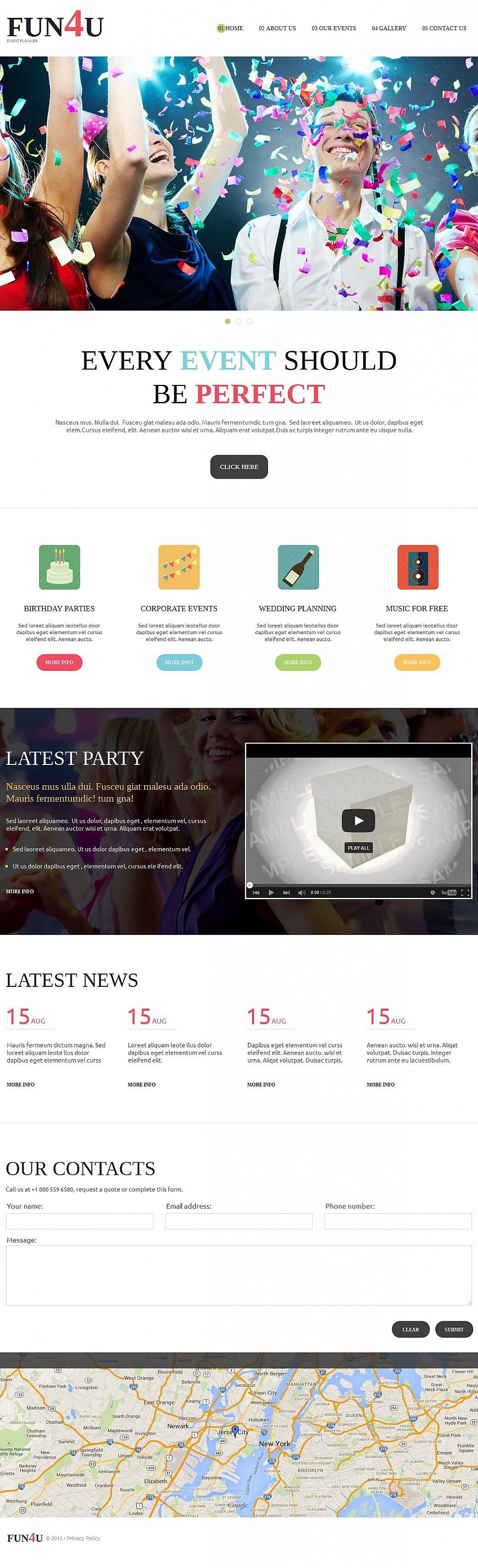 Event Planner Website Design - image