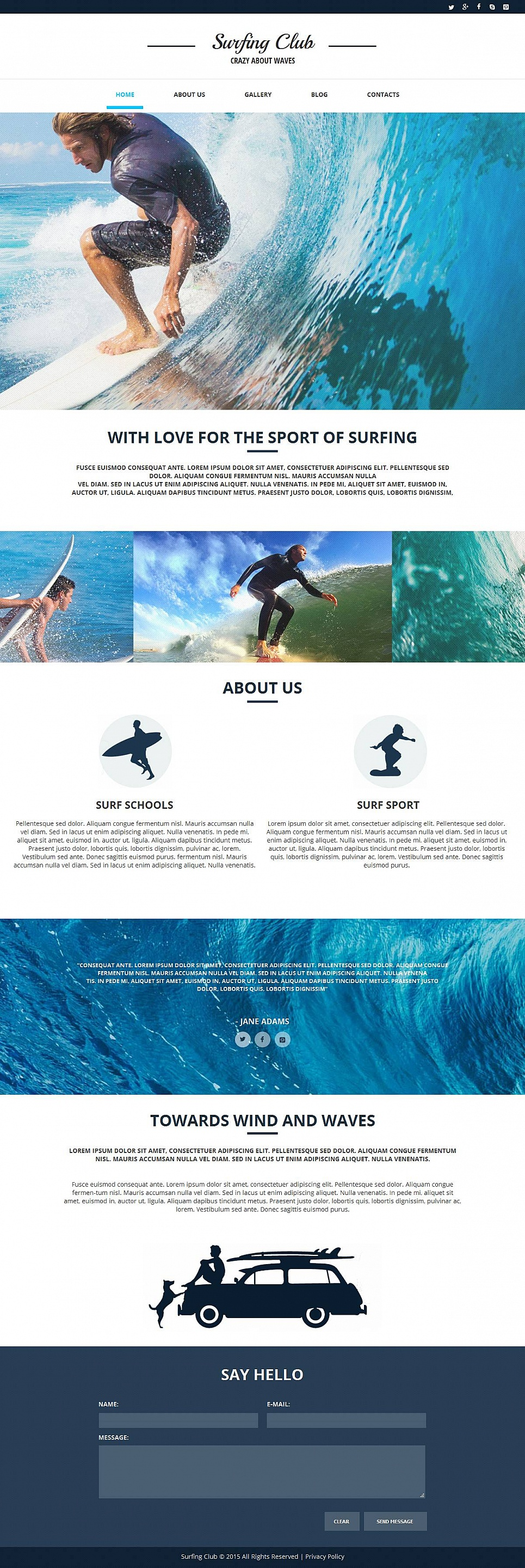 Complete Surf Website for Your Hobby - image