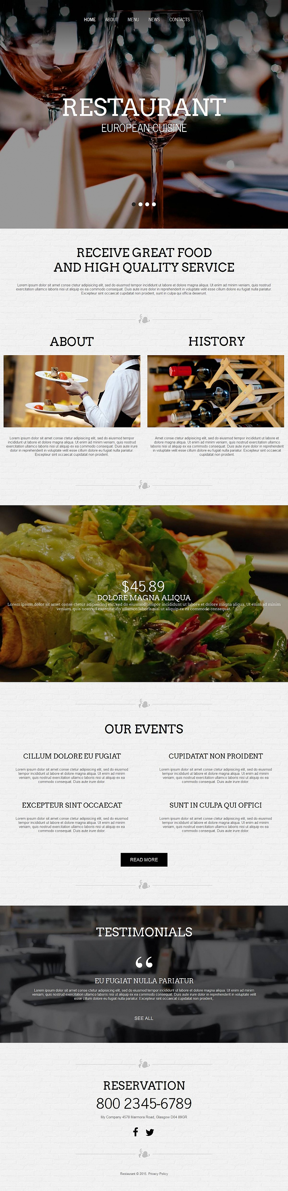 MotoCMS HTML Шаблон #53062 из категории Кафе и рестораны - image