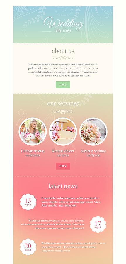 wedding planner responsive newsletter template 53089. Black Bedroom Furniture Sets. Home Design Ideas