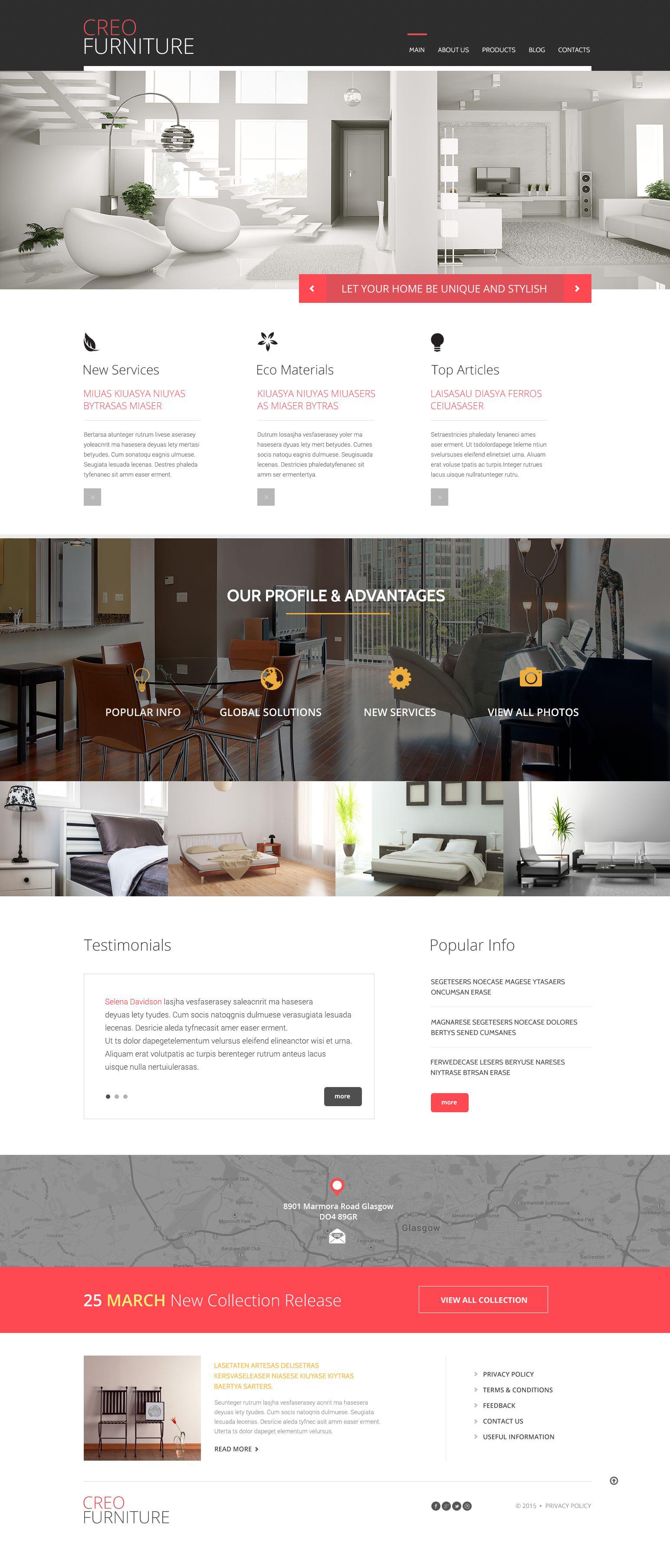 Furniture WordPress Themes Furniture Responsive WordPress Theme #53093