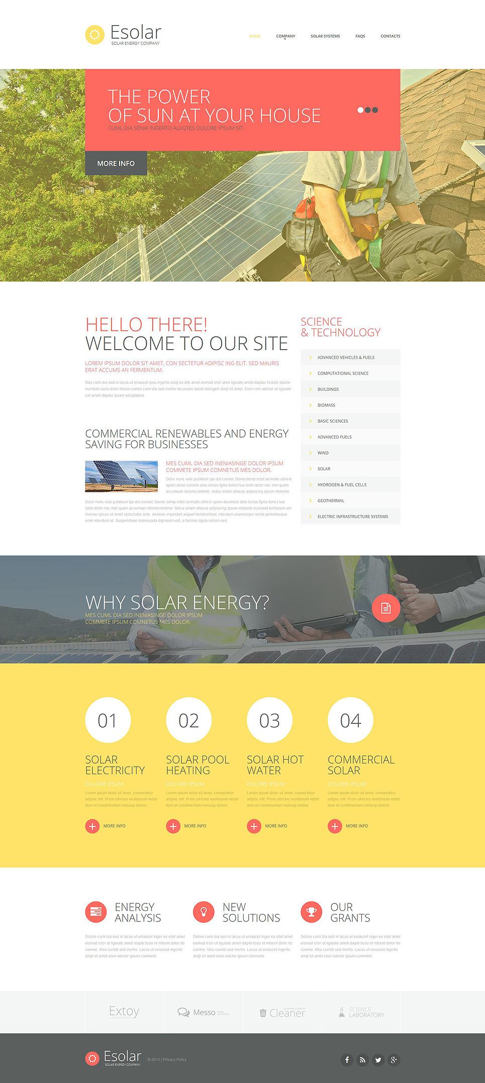 solar energy website template 53118