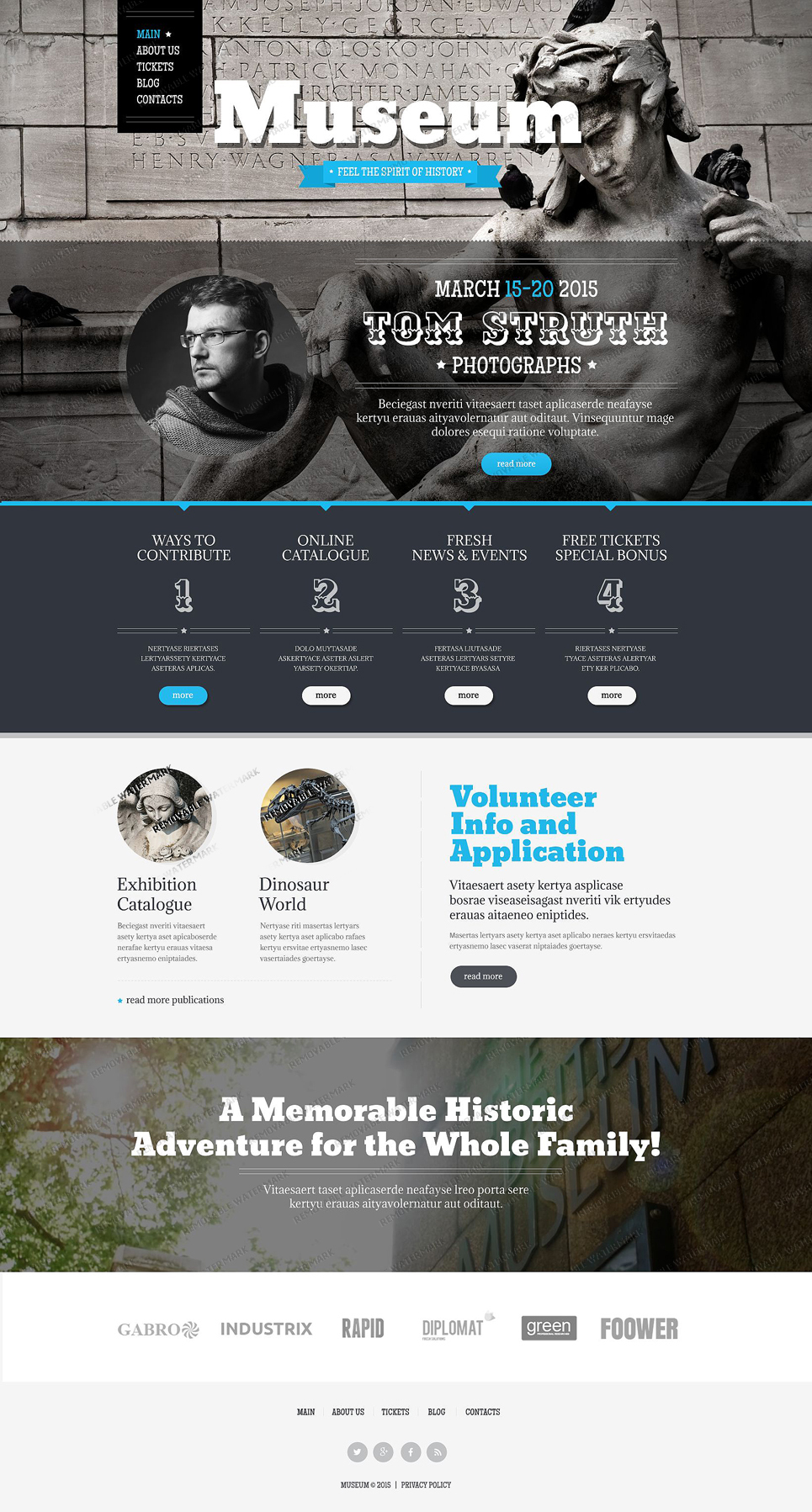 Free Museum Drupal Template