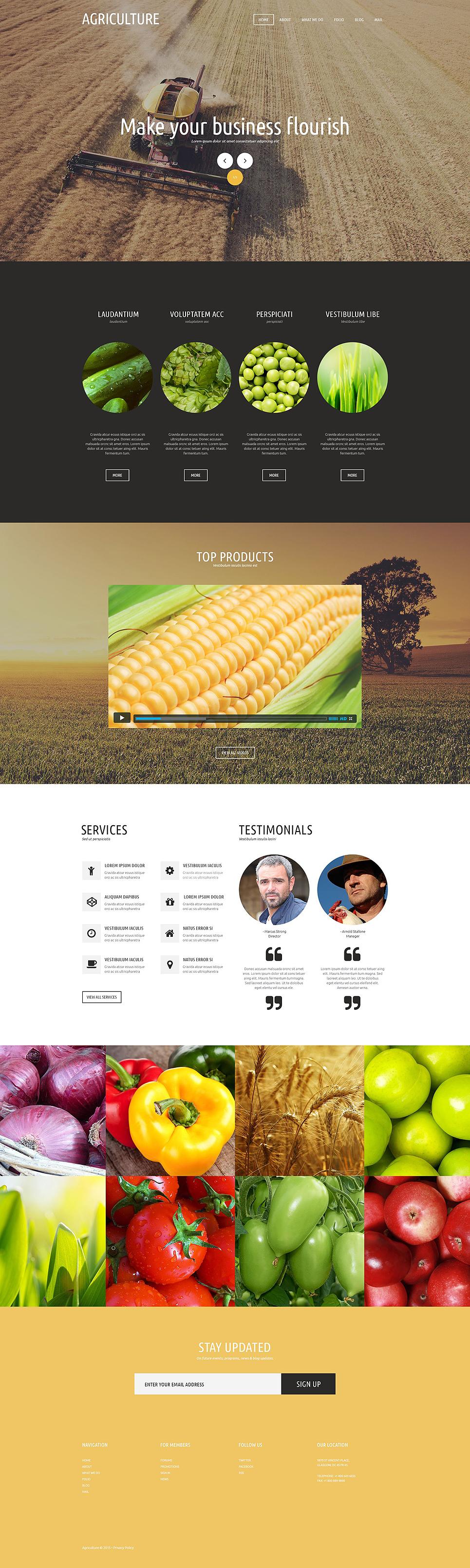 Graceful Agriculture Joomla Template