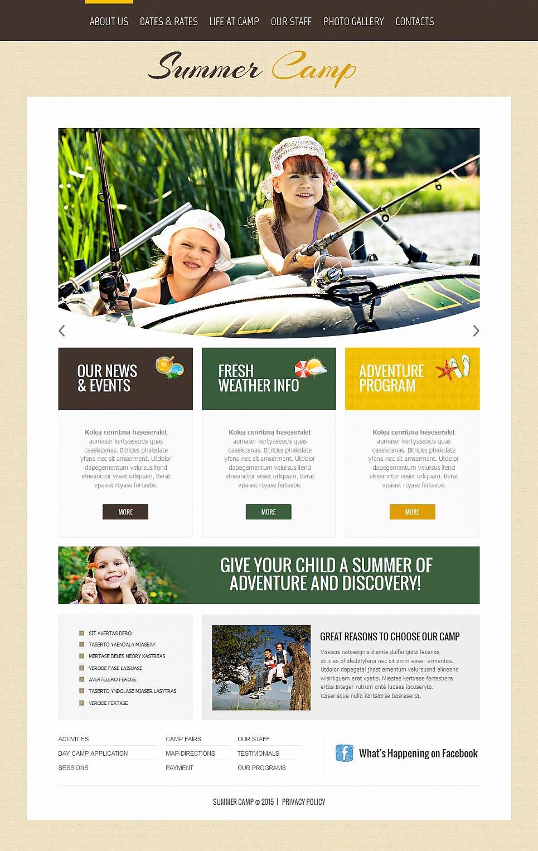 Webseite-Vorlage für einen Kinderferienlager - image